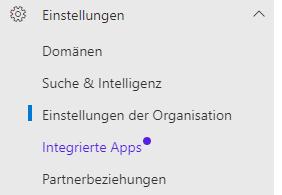 Microsoft-Einstellungen